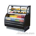 "Turbo Air - TOM-W-50SB - 50"" Black Dual Zone Refrigerated Display Case image"