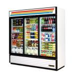 True - GDM-69-LD - 69 cu ft Refrigerated Merchandiser w/ 3 Sliding Doors image