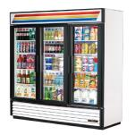 True - GDM-72-LD - 72 cu ft Refrigerated Merchandiser w/ 3 Swing Doors image