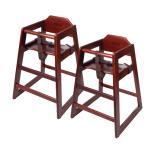 GET Enterprises - HC-100M-2 - Mahogany High Chair-2 pack image