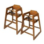 GET Enterprises - HC-100W-2 - Walnut High Chair-2 pack image