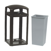 Outdoor Trash Can With Urn