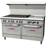 Combination Open Burner and Smooth Griddle