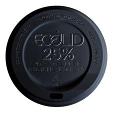 10-20 oz Black EcoLid® 25 Percent Recycled Content Hot Cup Lids