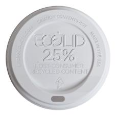 10-20 oz White EcoLid® 25 Percent Post-Consumer Recycled Content Hot Cup Lids