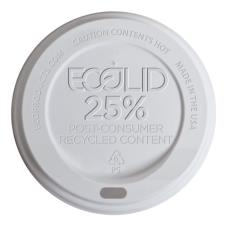 8 oz EcoLid® WhitePost-Consumer Recycled Content Hot Cup Lids