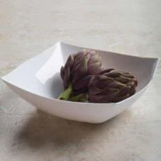 128 oz White Square Serving Bowl