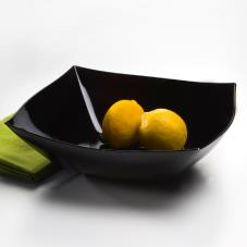 64 oz Black Square Serving Bowl