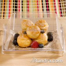 "6 1/2"" Square Clear  Dessert Plate"