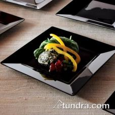 "8"" Square Black Salad Plate"