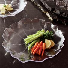 "12"" Clear Shallow Flower Tray"