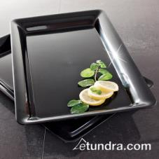 "12"" x 18"" Black Rectangular Tray"