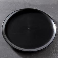 "16"" Black Round Party Tray"