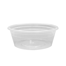 8 oz Clear Poly Deli Containers w/ Lids