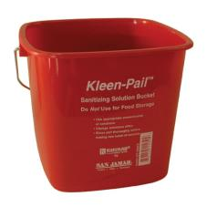 6 qt Kleen-Pail® Red Sanitizer Bucket
