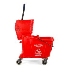 35 qt Red Mop Bucket & Wringer Combo