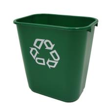 28 qt Green Deskside Recycling or Compost Can
