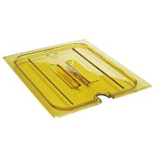 Full Size Amber H-Pan™ Handled Notched High Heat Food Pan Cover