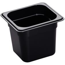 1/6 Size 6 in Deep Black H-Pan™ Food Pan