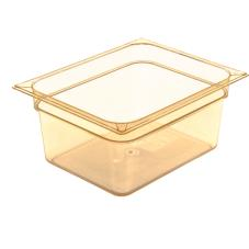 1/2 Size 6 in Deep Amber StorPlus™ High Heat Food Pan