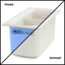 1/3 Size Divided Coldmaster® CoolCheck Food Pan