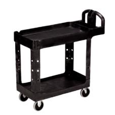 45 1/4 in x 25 7/8 in Black Utility Cart