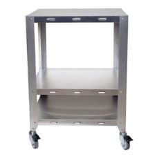 Half And Quarter Size Heavy Duty 2 Oven Stand With Wheels
