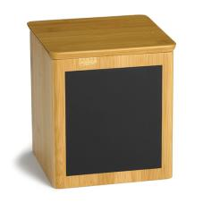 6 in x 6 in x 7 in Write On Square Bamboo Riser