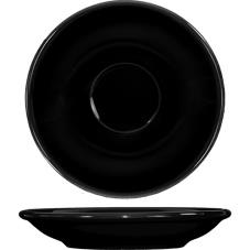5 1/5 in Cancun™ Black A.D. Saucer With Rolled edging