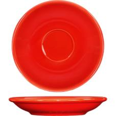 5 1/5 in Cancun™ Crimson Red A.D. Saucer With Rolled edging