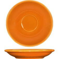 5 1/5 in Cancun™ Orange A.D. Saucer With Rolled edging
