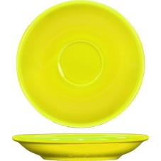 5 1/5 in Cancun™ Yellow A.D. Saucer With Rolled edging