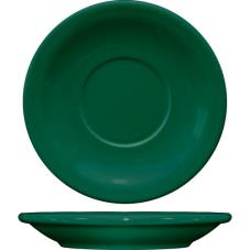 5 1/2 in Cancun™ Green Saucer With Narrow Rim