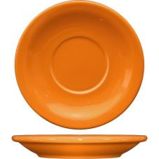 5 1/2 in Cancun™ Orange Saucer With Narrow Rim