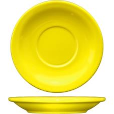 5 1/2 in Cancun™ Yellow Saucer With Narrow Rim