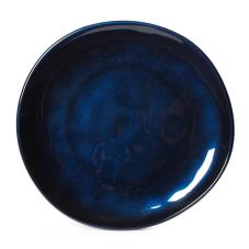 10 1/2 in Cosmo™ Blue Irregular Melamine Coupe Plate