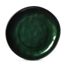 10 1/2 in Cosmo™ Green Irregular Melamine Coupe Plate