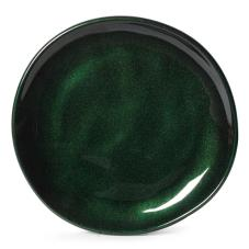 7 in Cosmo™ Green Irregular Melamine Coupe Plate