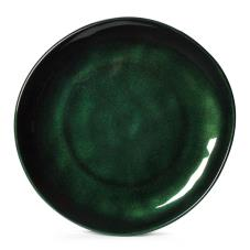 9 in Cosmo™ Green Irregular Melamine Coupe Plate