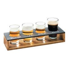 Write-On Madera Beer Flight Taster Caddy