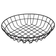 12 in Round Black Wire Basket