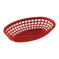 Oval Red Plastic Baskets