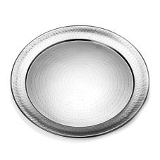 20 in Round Hammered Stainless Steel Tray