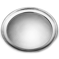 22 in Round Hammered Stainless Steel Tray