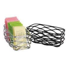 4 1/2 in x 2 1/4 in Black Birdnest Sugar Packet Basket