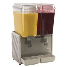 2 Bowl Refrigerated Beverage Dispenser with Plastic Side Panels