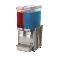 Mini Twin™ Refrigerated Beverage Dispenser with Stainless Steel Side Panels