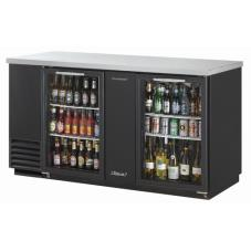 69 in Back Bar Cooler w/2 Glass Doors