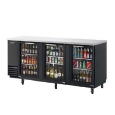 90 in Back Bar Cooler w/3 Glass Doors