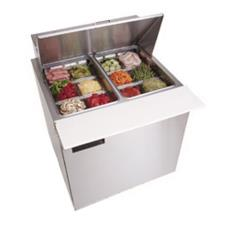1 Section 32 1/8 in Mega Top Refrigerated Base w/ Doors